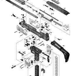 imi uzi series semi auto pistol gun schematic [ 800 x 1328 Pixel ]