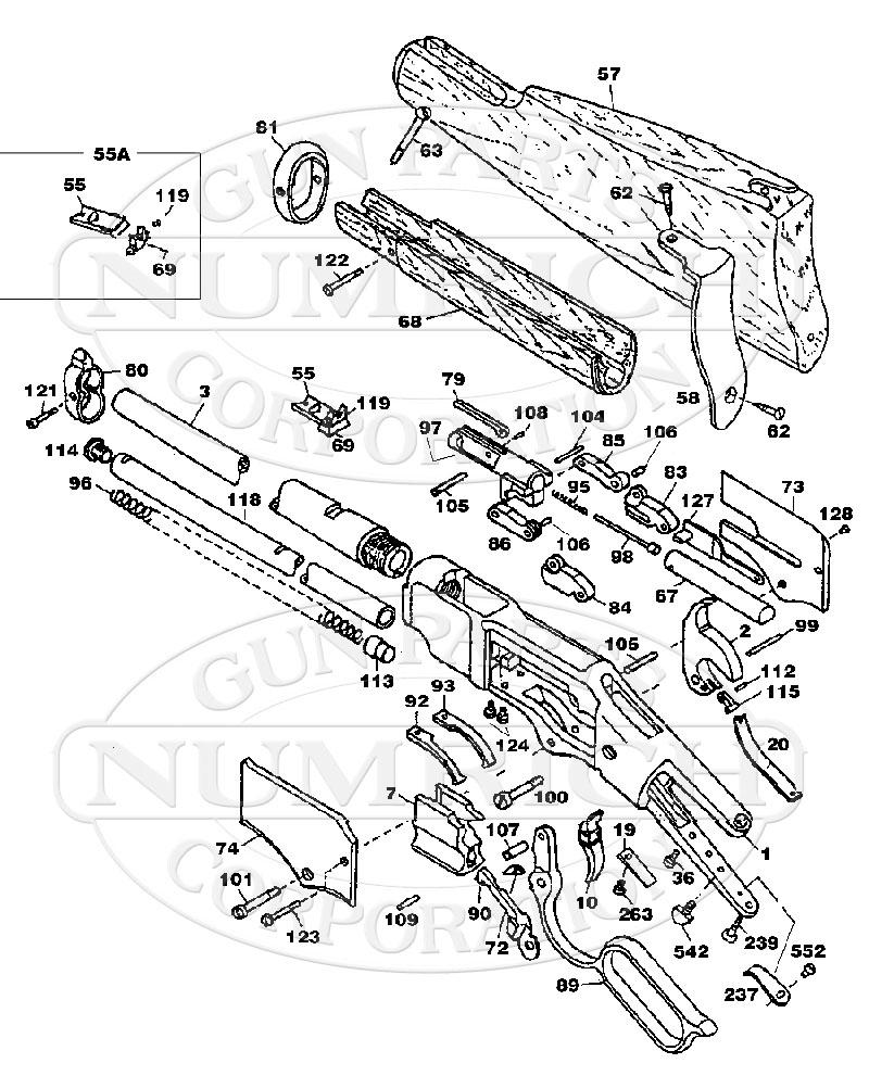 Uberti 1866 Winchester Yellowboy Carbine Replica Parts