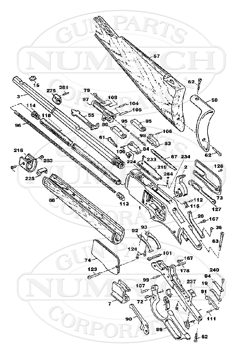 Winchester Model 92 Parts Diagram, Winchester, Free Engine