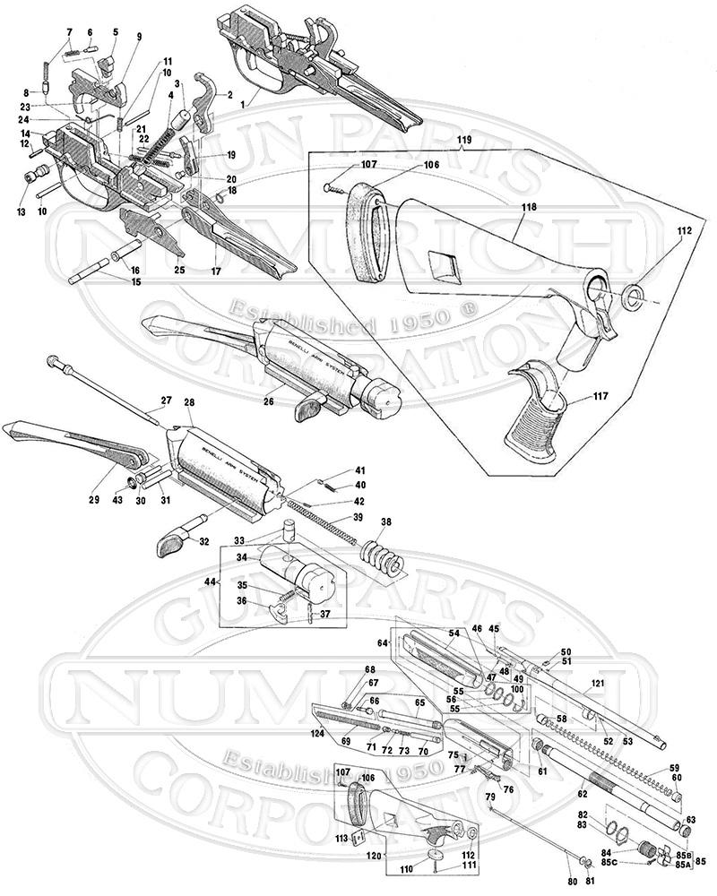 medium resolution of benelli shotguns semi auto shotguns m1 super 90 field gun schematic