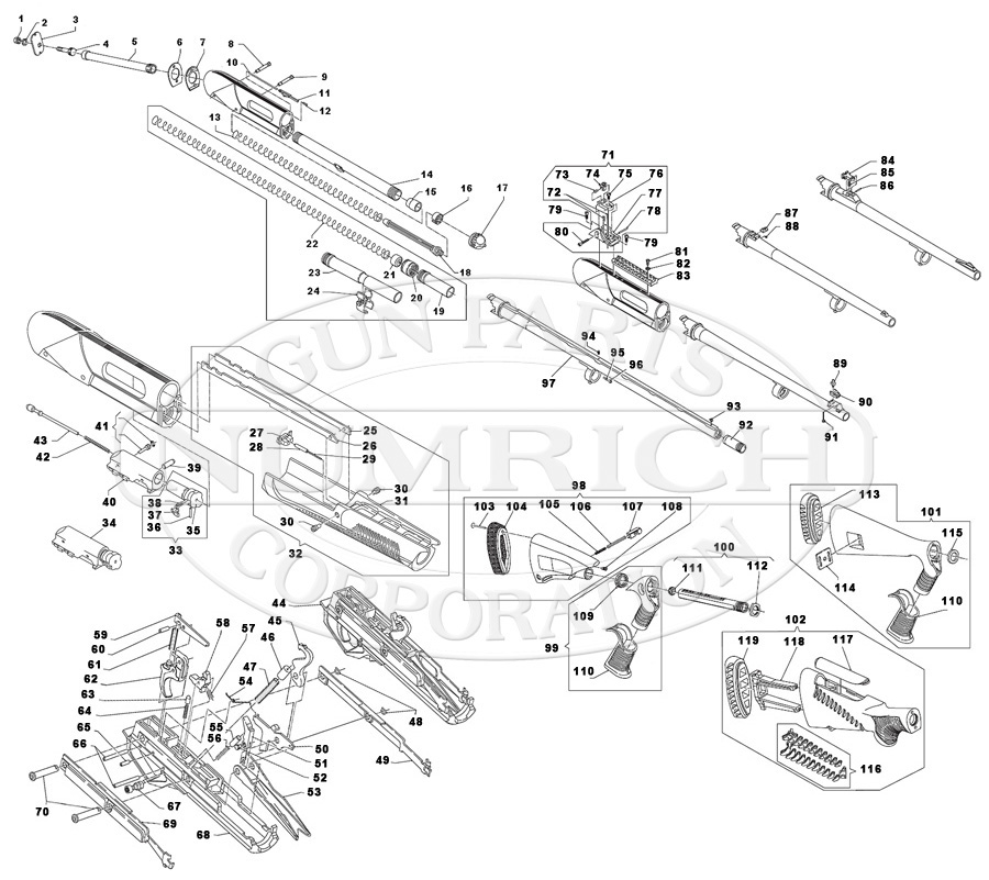 Benelli Nova Parts Schematic, Benelli, Free Engine Image