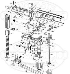 cz machines guns vz 61 skorpion smg gun schematic [ 800 x 1035 Pixel ]