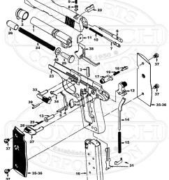 colt mustang ii parts u0026 schematic numrichcolt auto pistols mustang ii gun schematic [ 800 x 1007 Pixel ]