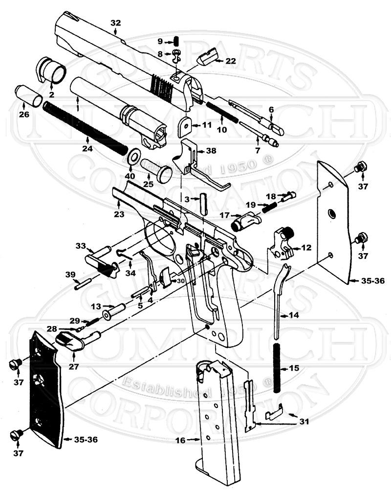 hight resolution of colt mustang ii parts u0026 schematic numrichcolt auto pistols mustang ii gun schematic
