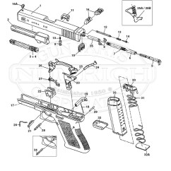 Glock 22 Exploded Diagram Dog Brain 27 Parts Schematic Numrich Gun