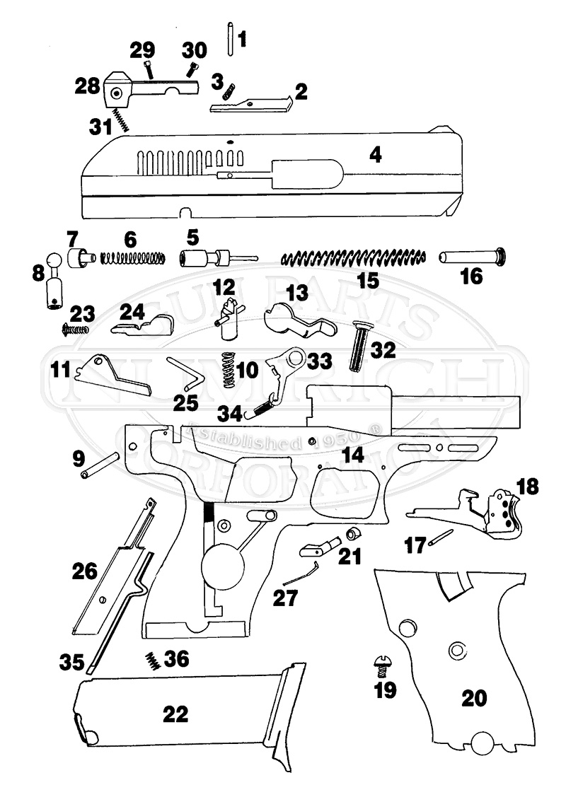 medium resolution of hi point model c9 gun schematic
