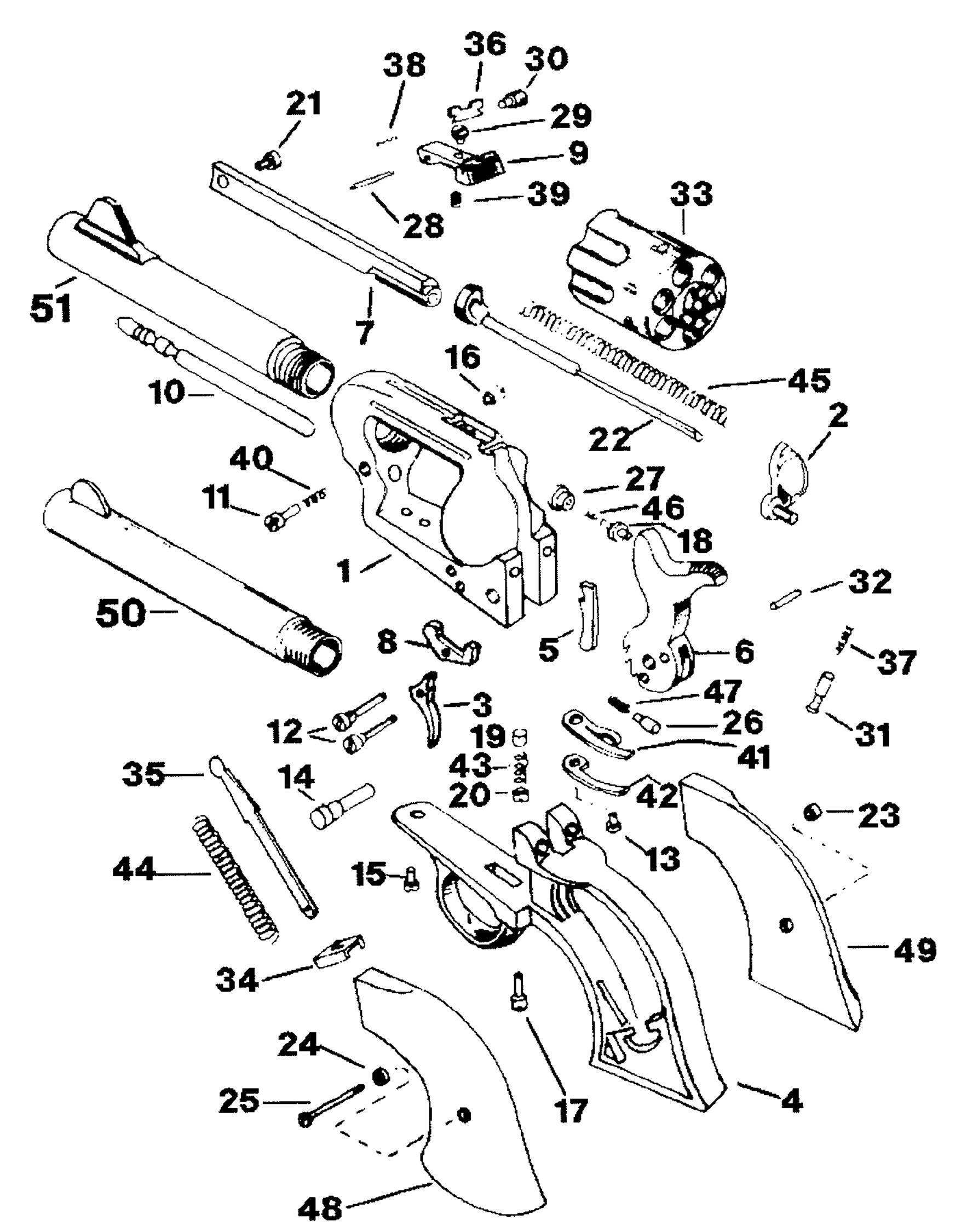 Interarms Revolvers Virginian Dragoon Parts