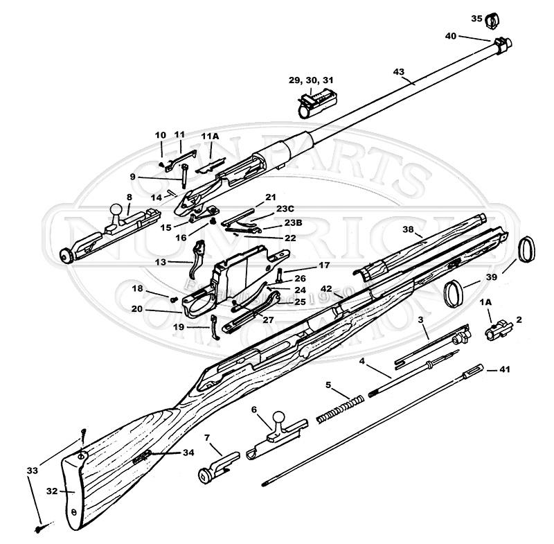 mosin nagant parts diagram 91 30 mosinnagant parts kit