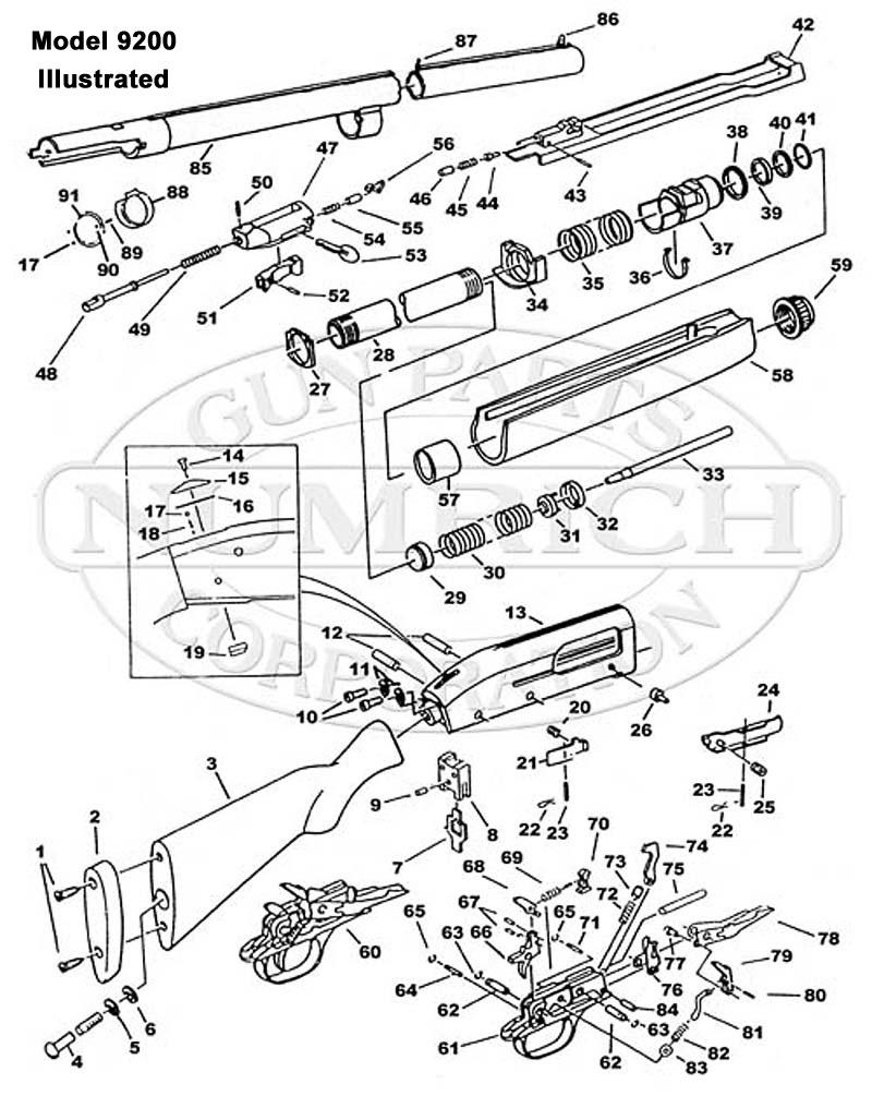 medium resolution of mossberg shotguns 9200 gun schematic