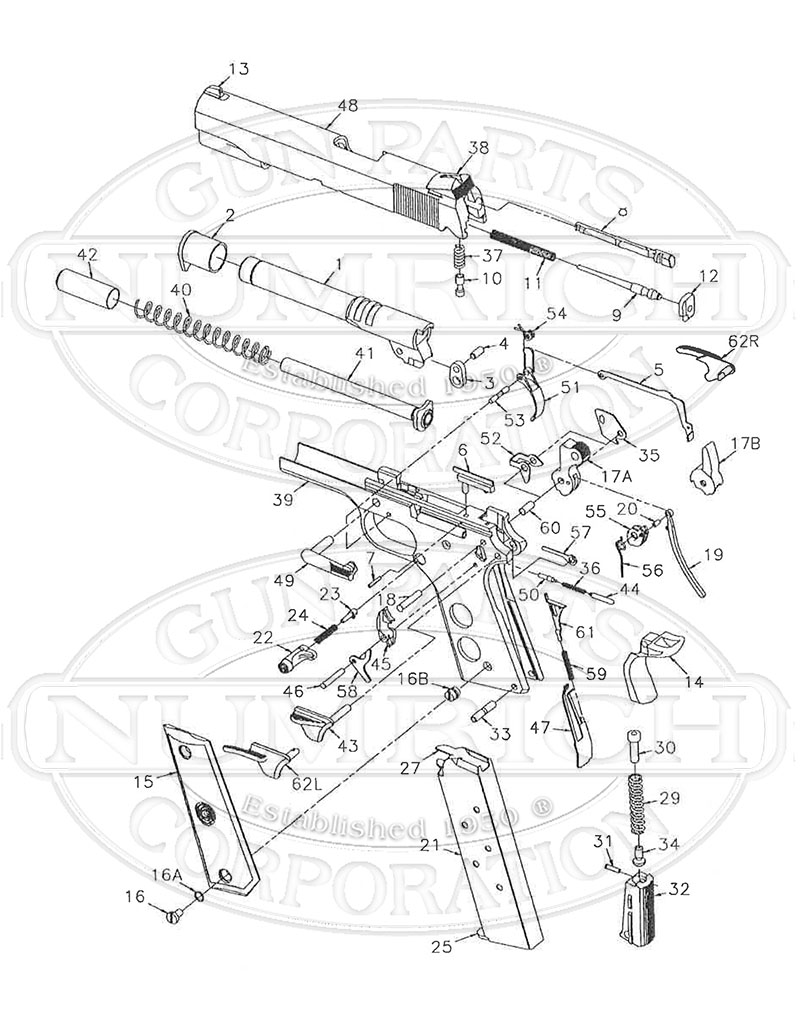 Para Ordnance Parts Diagram Kimber 1911 Exploded On