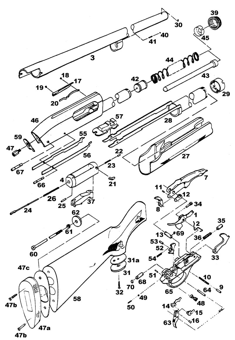 mossberg 500 trigger assembly diagram uml of library management system remington 870 parts list and schematic | numrich