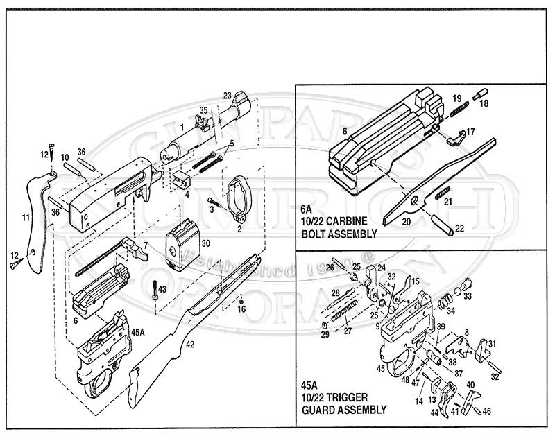 ruger pistol parts diagram reverse activation energy 10 22 and gun corp rifles list schematic