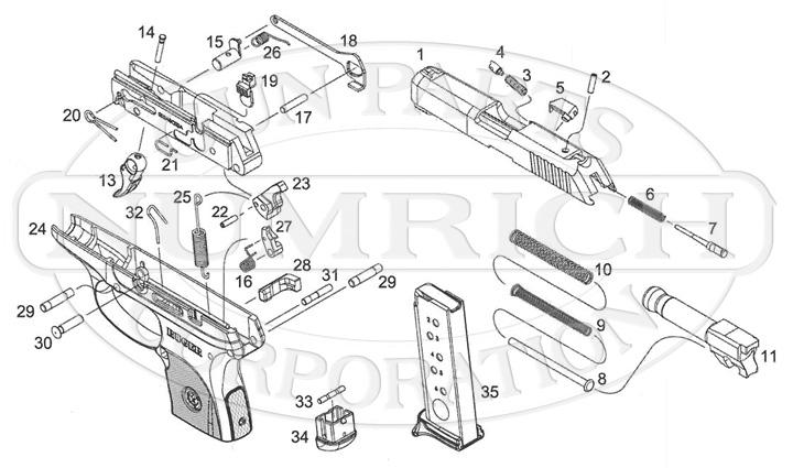 ruger pistol parts diagram wire symbols lcp numrich gun auto pistols schematic