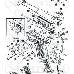 Ruger Pistol Parts Diagram Light Wiring House Mkii 22 45 Numrich Gun Auto Pistols Schematic
