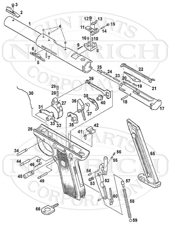 ruger pistol parts diagram mtd yard machine mkiii 22 45 gun corp auto pistols schematic