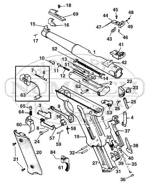 ruger pistol parts diagram ruud air handler wiring mki numrich gun auto pistols schematic