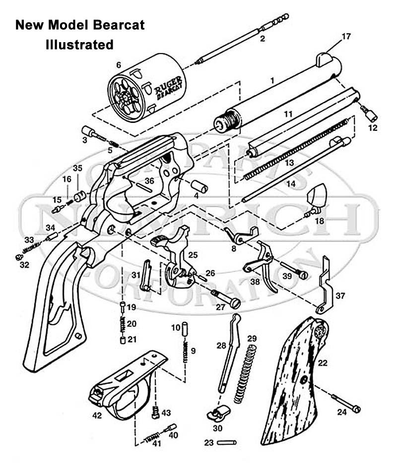 ruger pistol parts diagram 2008 mitsubishi lancer gts wiring old model bearcat gun corp revolvers schematic