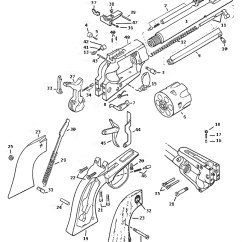 Ruger Pistol Parts Diagram Square D Breaker Box Wiring Old Model Single Six Numrich Gun Revolvers Schematic