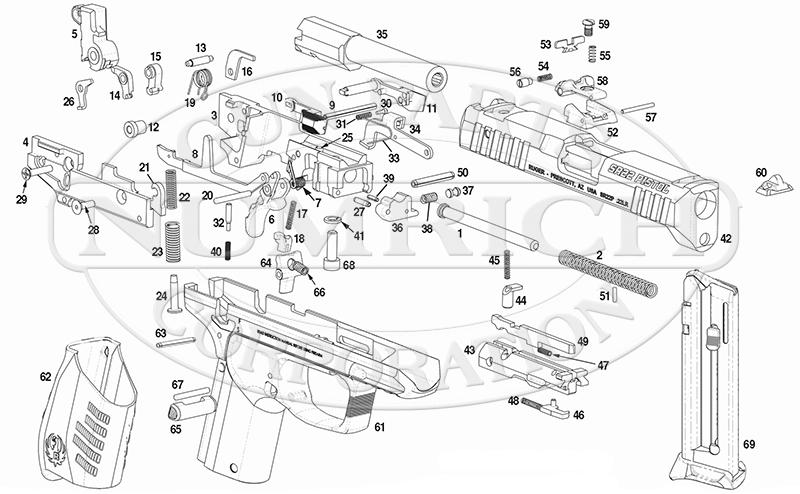 ruger pistol parts diagram what is a schematic circuit sr22 aftermarket numrich gun auto pistols