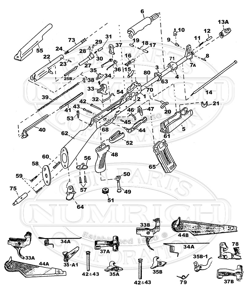 medium resolution of ak47 parts list gun schematic