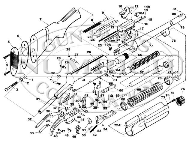 savage model 110 parts diagram ford 8n wiring 6 volt 10 six designenvy co springfield 745 shotgun numrich gun rh gunpartscorp com