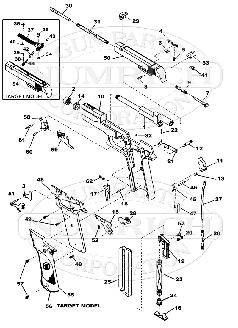 hight resolution of smith wesson auto pistols 422 gun schematic