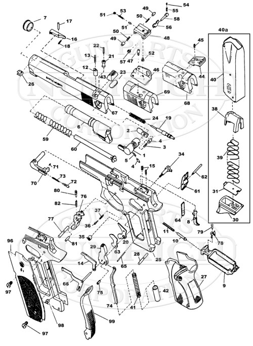 small resolution of smith wesson auto pistols 745 45 series gun schematic