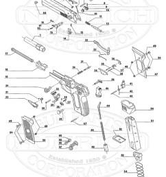 beretta auto pistols 8000 cougar series gun schematic [ 800 x 1116 Pixel ]
