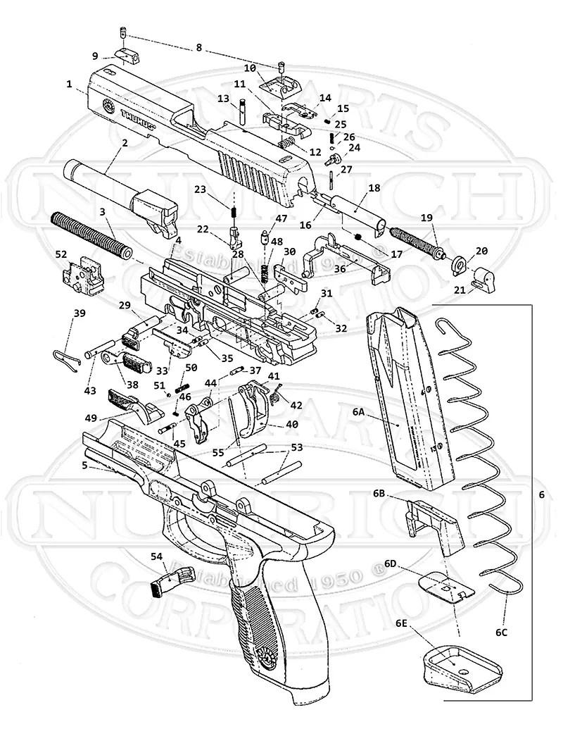 hight resolution of taurus auto pistols pt 24 7 gun schematic