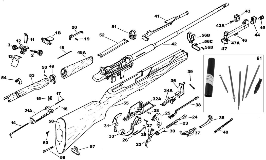 Garand Parts Diagram, Garand, Free Engine Image For User
