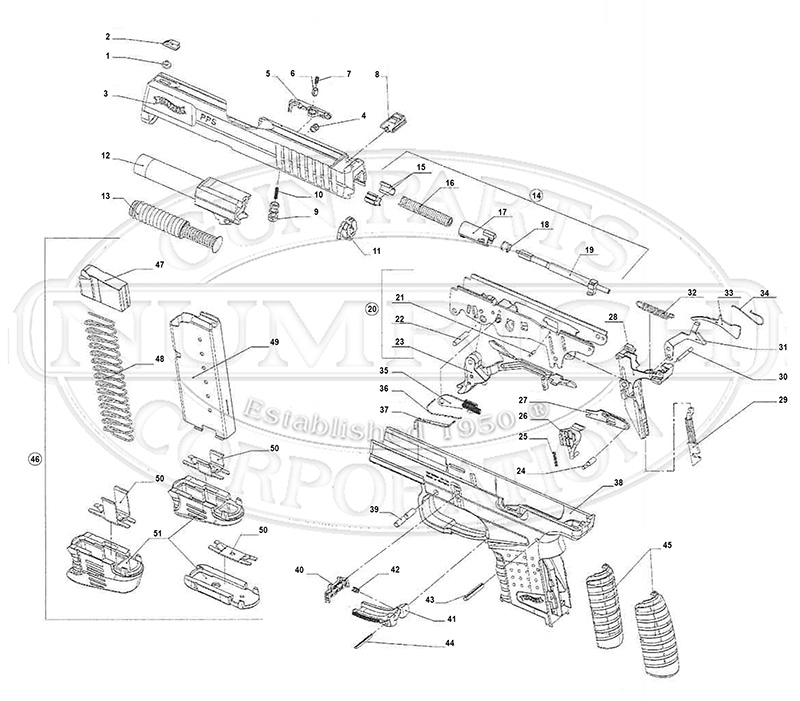 Smith And Wesson Walther Ppk S Parts Diagram