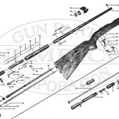 Basic Gun Diagram Trane Xe1000 Parts Winchester Model 74 Numrich Rifles Schematic