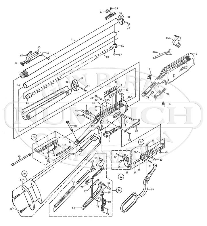 Winchester Model 250 Diagram, Winchester, Free Engine