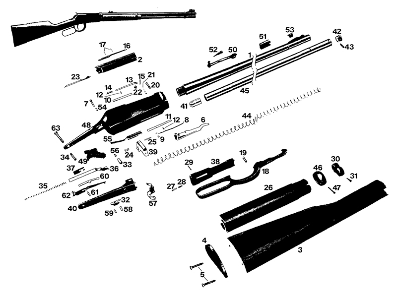 Winchester Model 94 Angle Eject Timber Carbine Parts