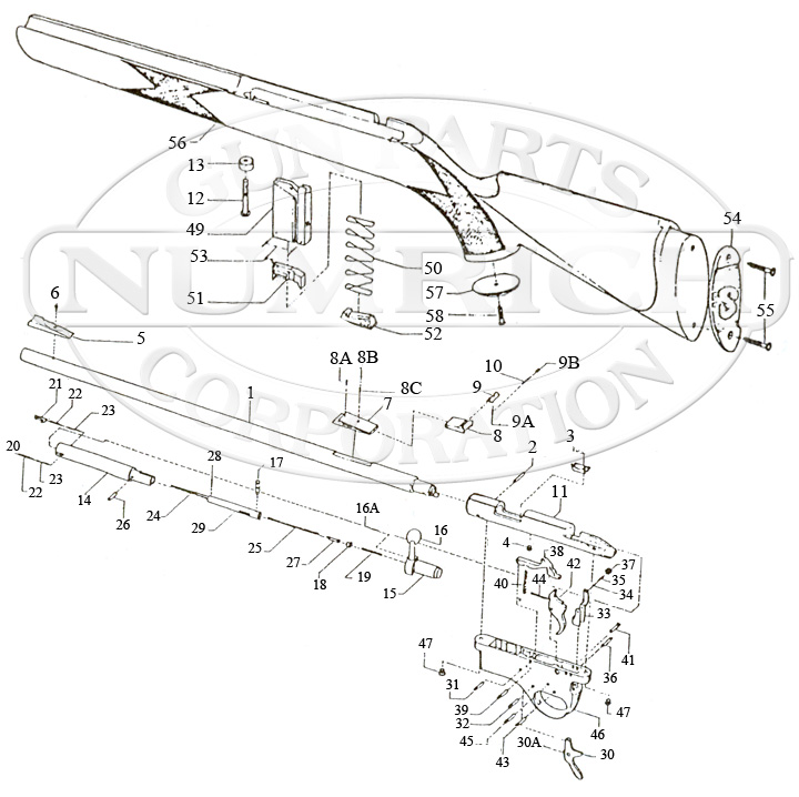 Parts Schematic For M16 Rifle