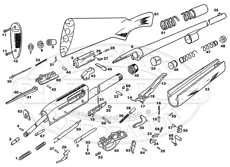 Remington Model 11 Parts Diagram, Remington, Free Engine