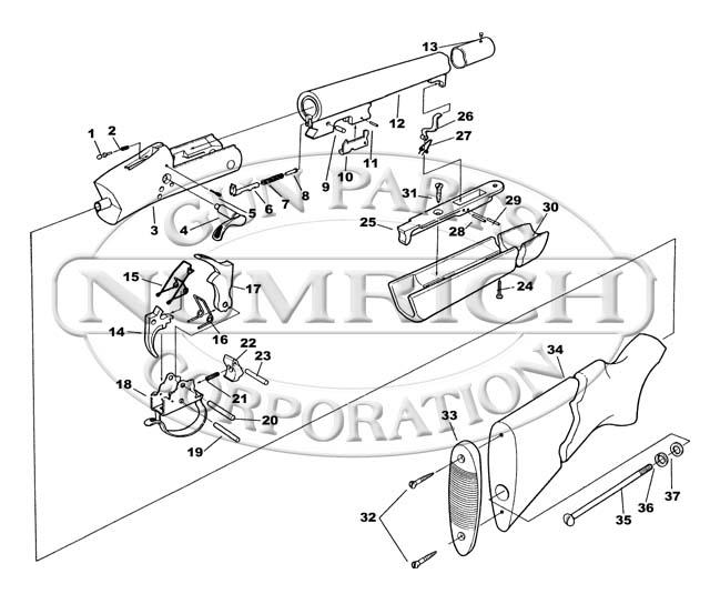 Parts Description Of Single Shot Shotgun