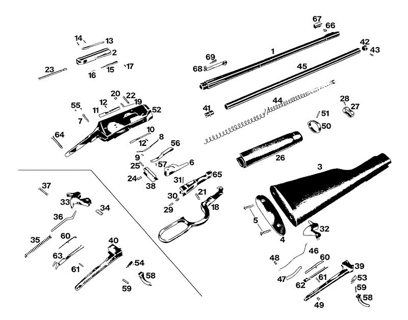 Winchester 1200 Gun Schematics, Winchester, Get Free Image