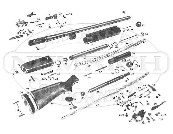 Winchester 1300 Shotgun Diagram, Winchester, Free Engine
