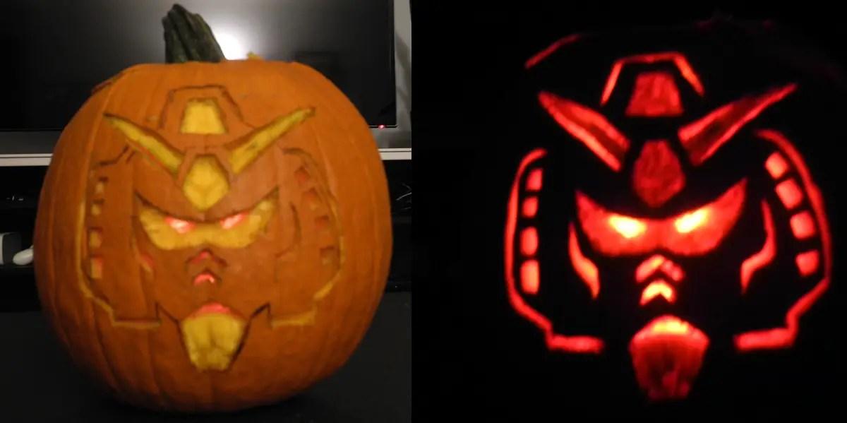 Happy Halloween! Our Gundam Pumpkin - Gunpla 101