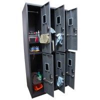 Homak 6 Door Steel Gun Cabinet/Locker GSGS00700600