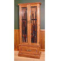 Scout Oak 8-Gun Cabinet