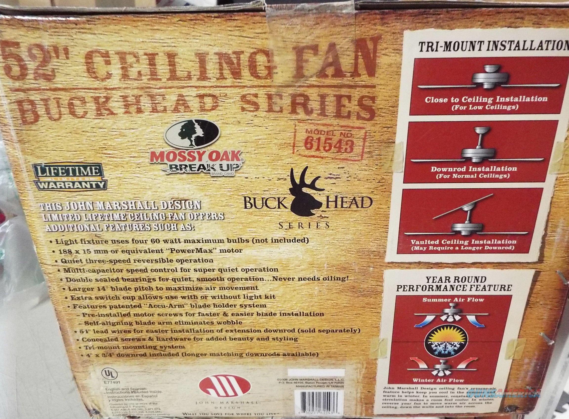 Mossy Oak Buckhead Ceiling Fan MOBU Camo w Lig for sale