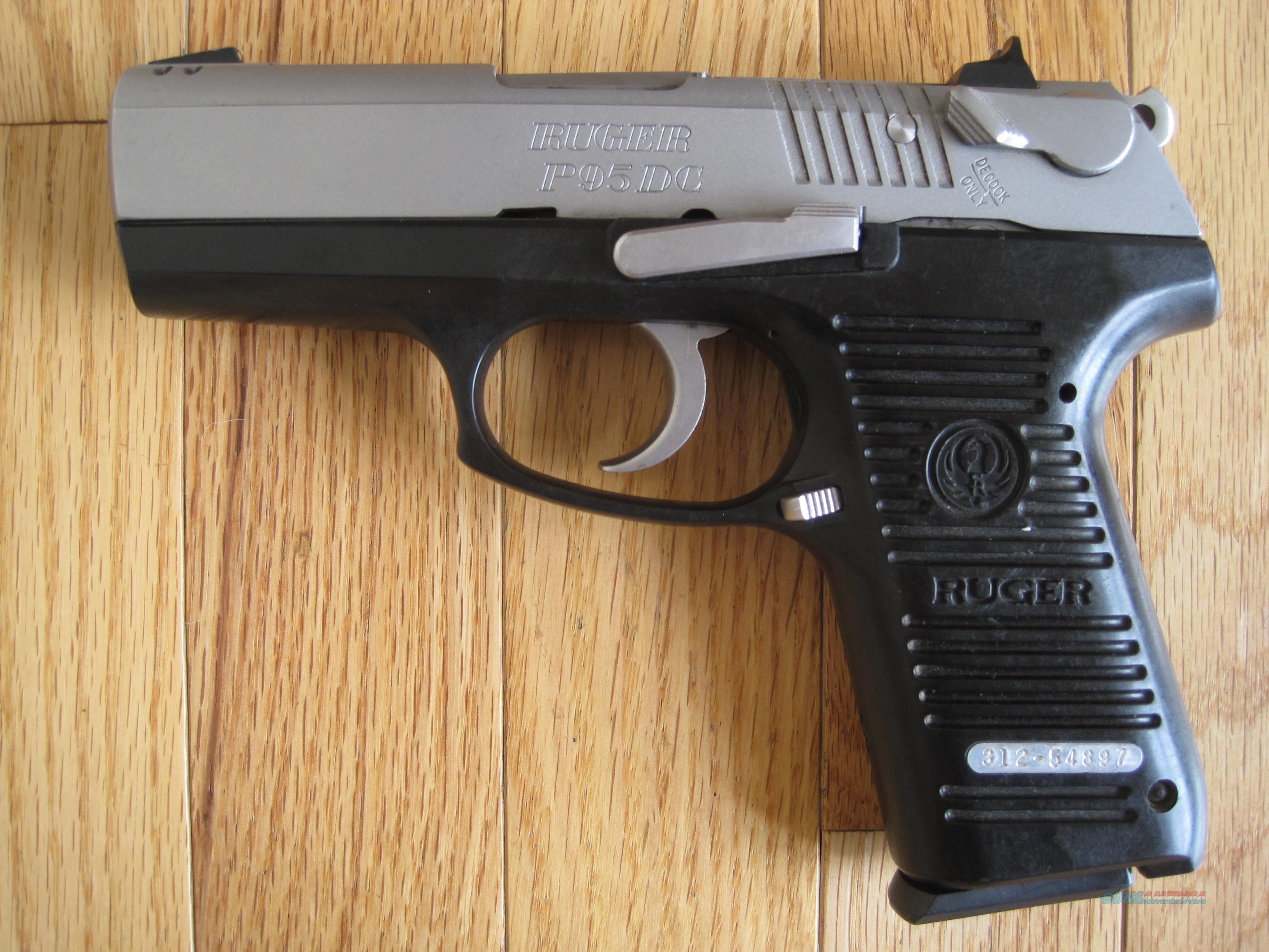 Ruger P95 Dc Stainless Steel 9mm For Sale