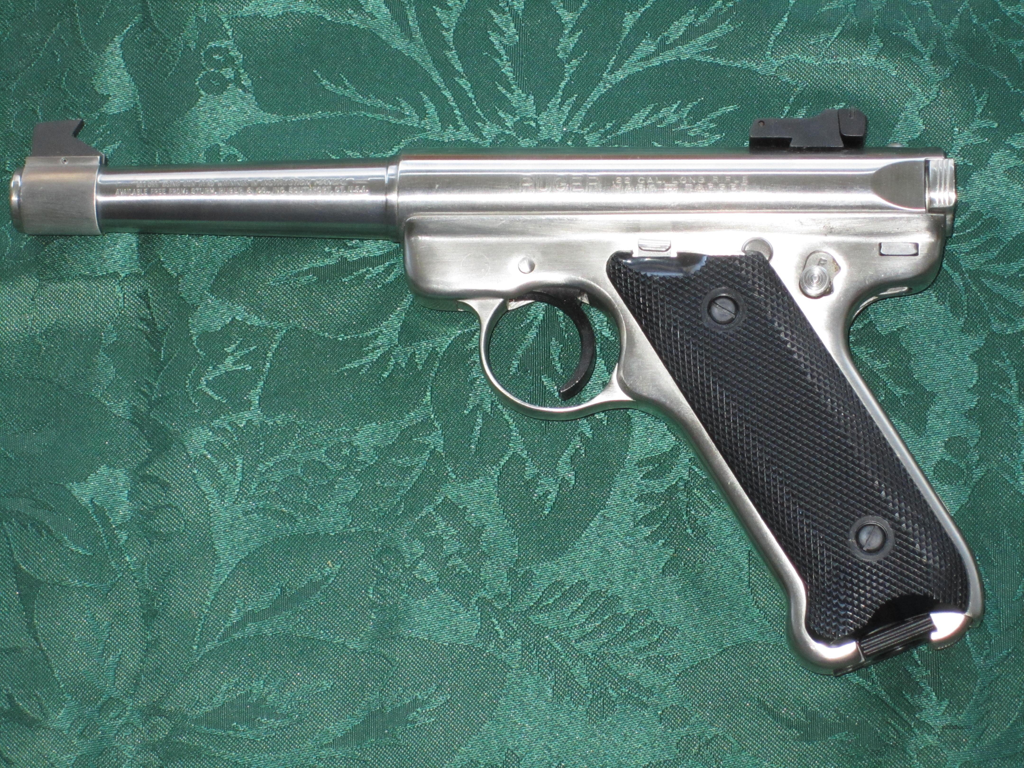 Ruger Mark Ii 22 Lr Stainless Steel 5 1 4 Bb For Sale