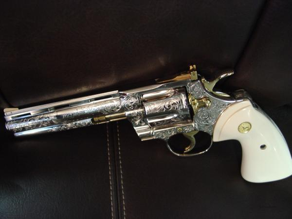 Gold Engraved Colt Python - Year of Clean Water