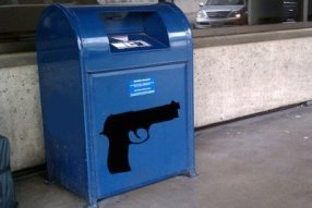 A drop box for guns.  Bad idea? (Photo: Controversial Times)