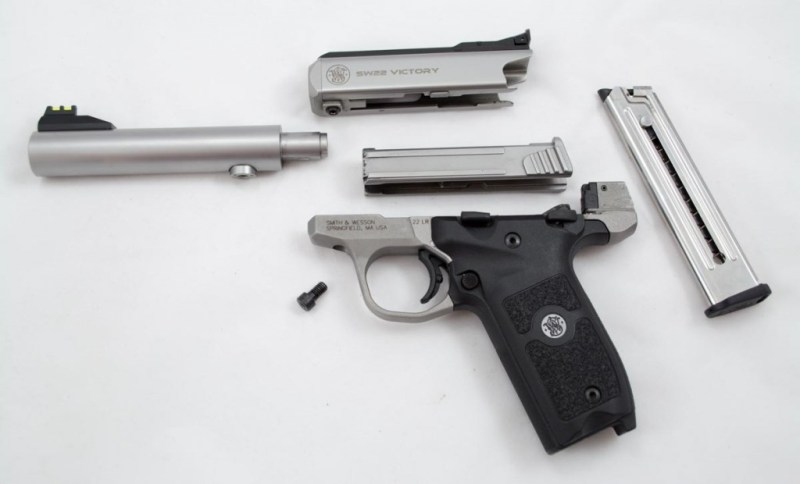 In this view, the bolt has been pulled out of the receiver.
