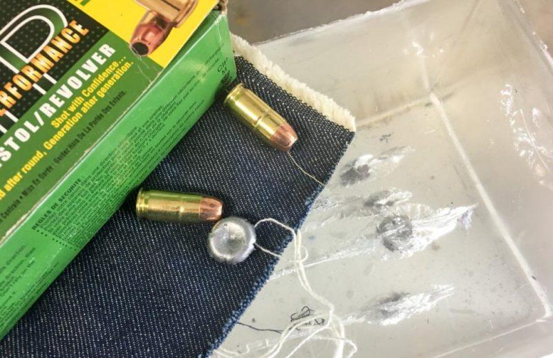 I tested expansion through FBI heavy, four-layer fabric and into Clear Ballistics gelatin blocks.