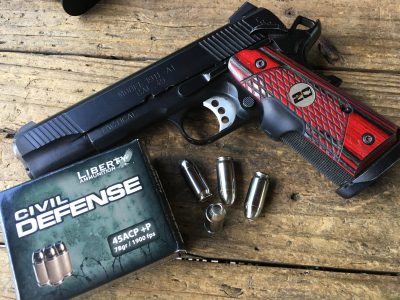 I used a Springfield Armory 1911 TRP to try out the 45 ACP load.
